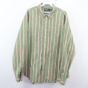 Polo Ralph Lauren Mens 2XL Striped Dress Shirt
